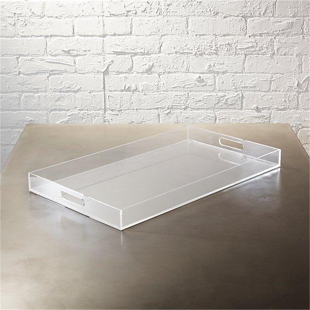 Acrylic Clear Rectangular Tray + Reviews CB2 Living