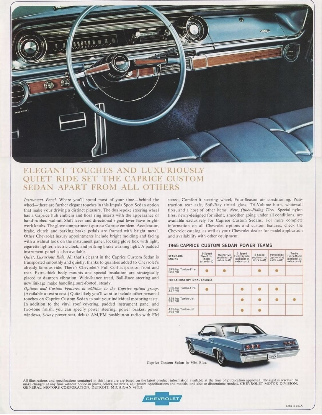 1965 Chevrolet Caprice Chevrolet Sedan Chevrolet Caprice