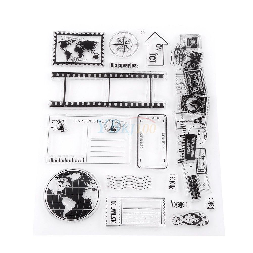 Transparent Silicone Rubber Stamp Sheet Cling for Scrapbook Card Decoration