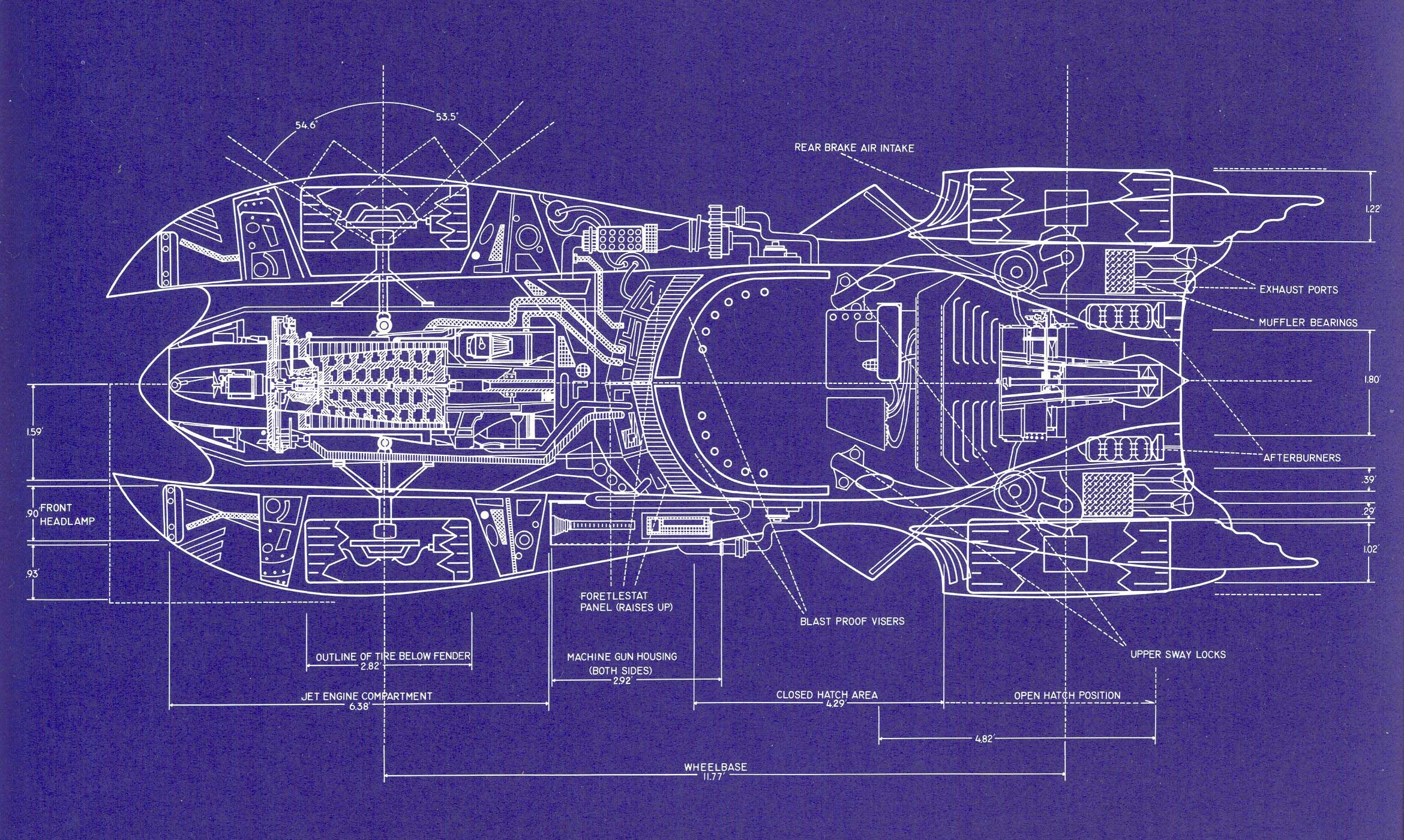 batmobile blueprint for tim burton s batman 1989 by anton