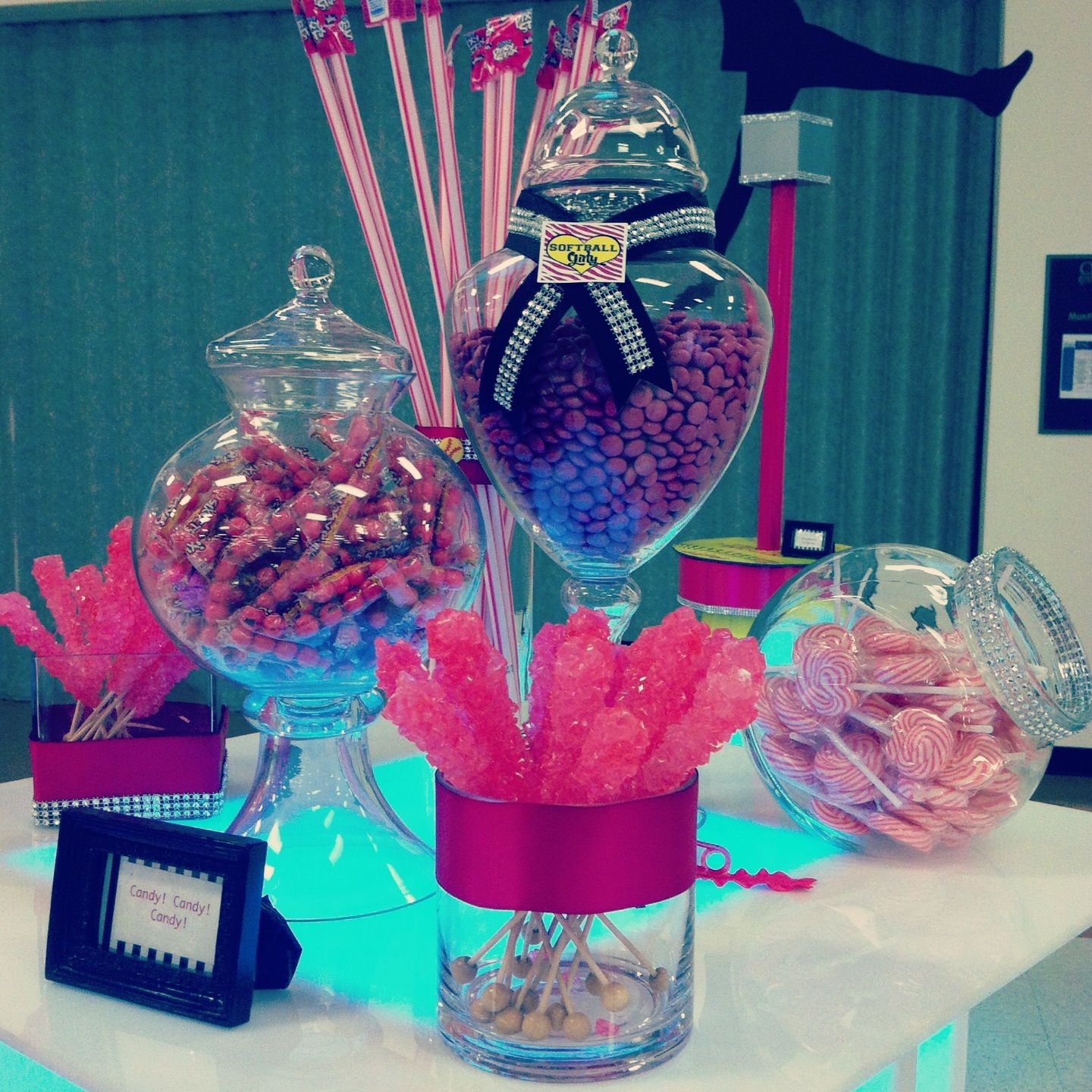 Candy Table Lit Up Candy Bar Party Sweet Table Candy Table