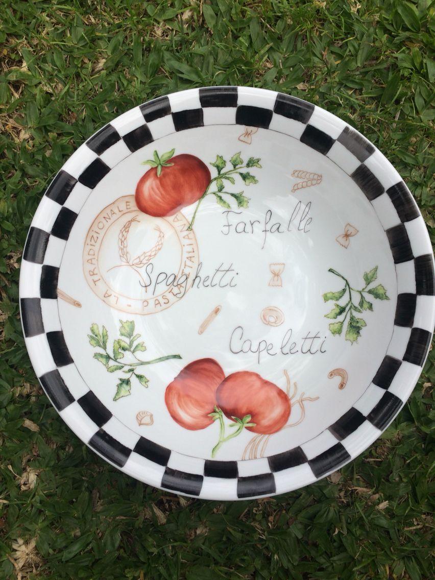 Fuente Para Pasta Porcelana Pinturas Hogar