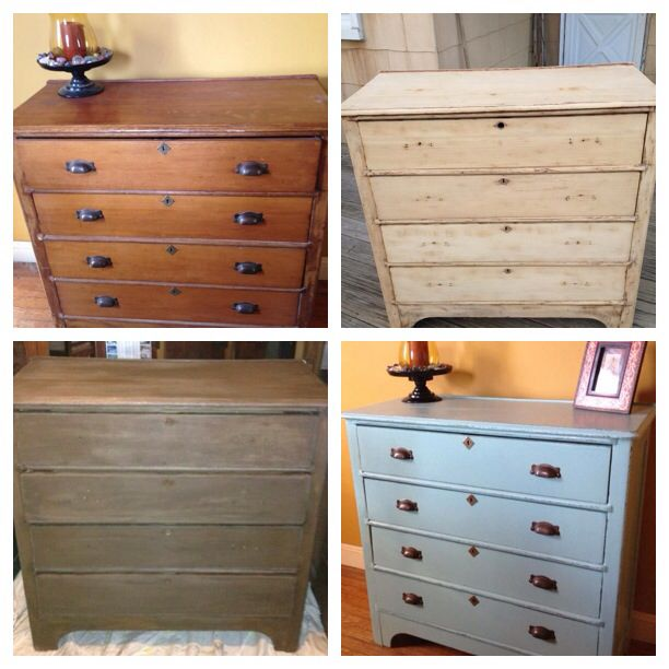 Grandmothers Very Old Dresser Was Sanded Down Restained