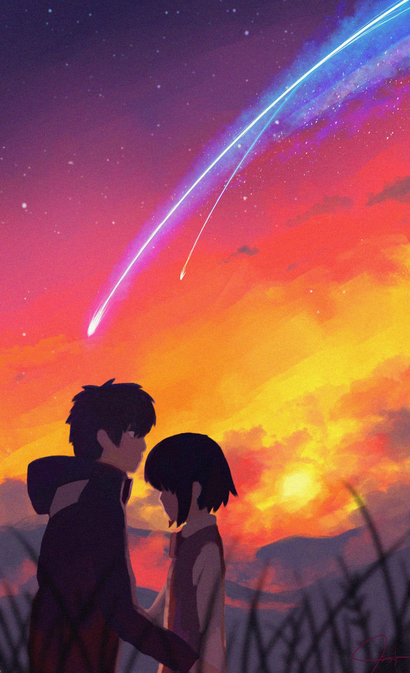 ArtStation Your Name(Kimi no nawa) Fan art, Gericho