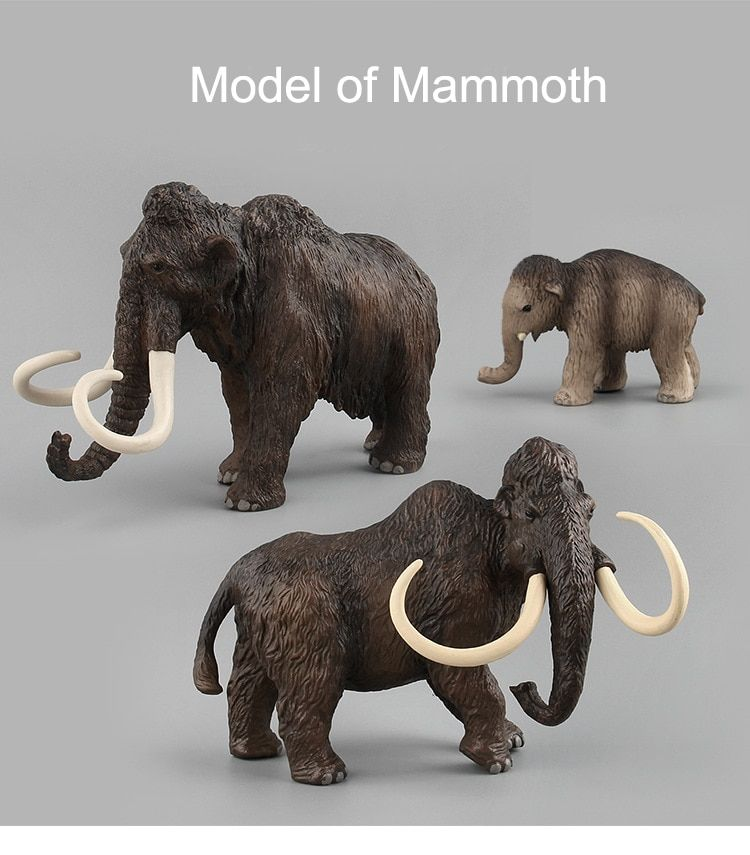 3Style Zoo Animal Action Elephant Toy Figures Prehistoric Creature Mammoth Models Action High Quality Education Cute Toys Gift #prehistoriccreatures