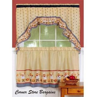 Fat Chef Kitchen Curtains In Curtains Drapes Valances