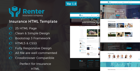Renter Insurance Html5 Template Html Templates Html5