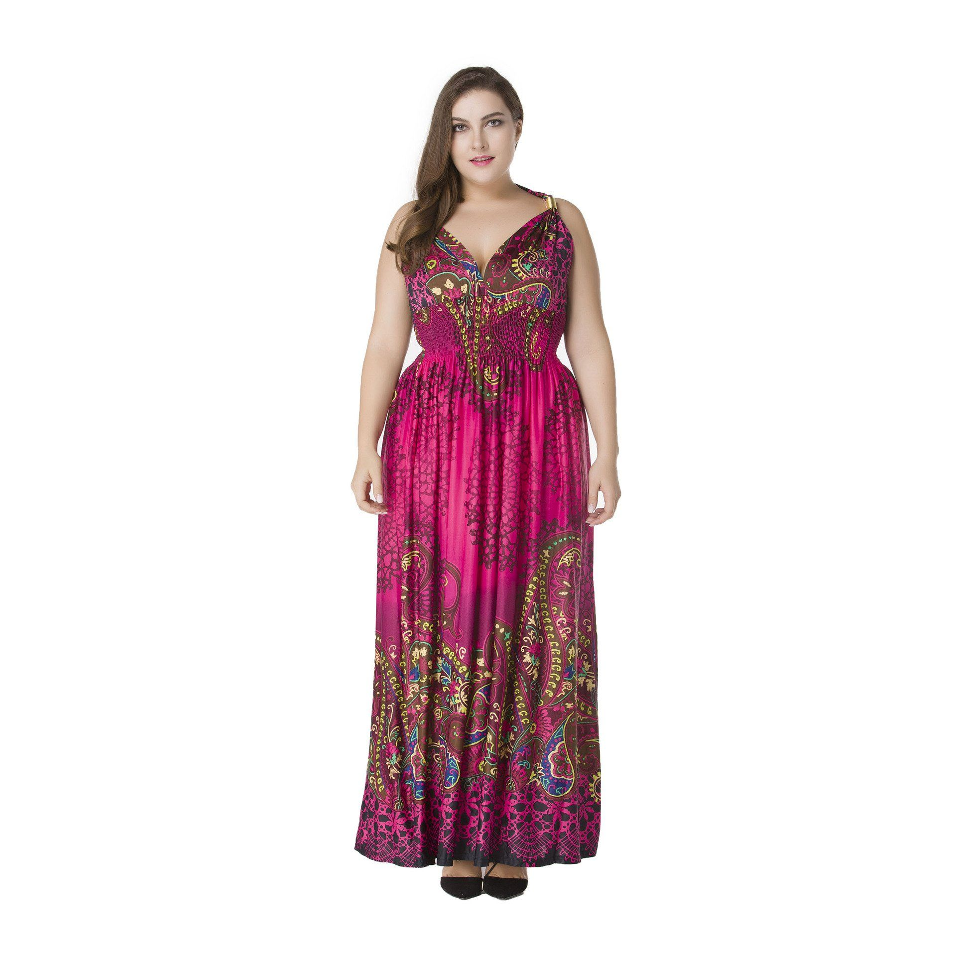 Tunic boho maxi floor length sundress lxl in products