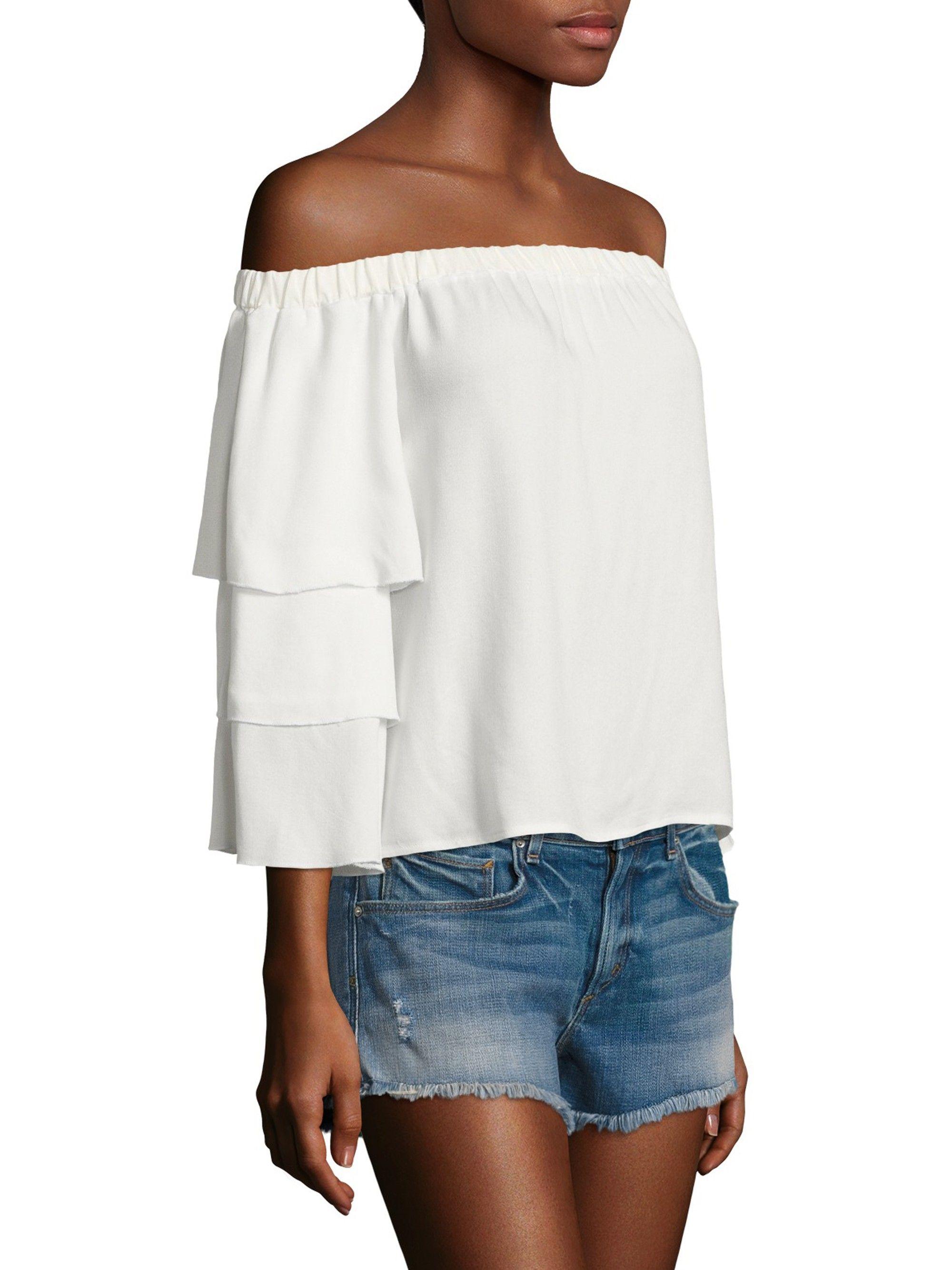 74107d5ea2851 ELLA MOSS Solid Off-The-Shoulder Top.  ellamoss  cloth