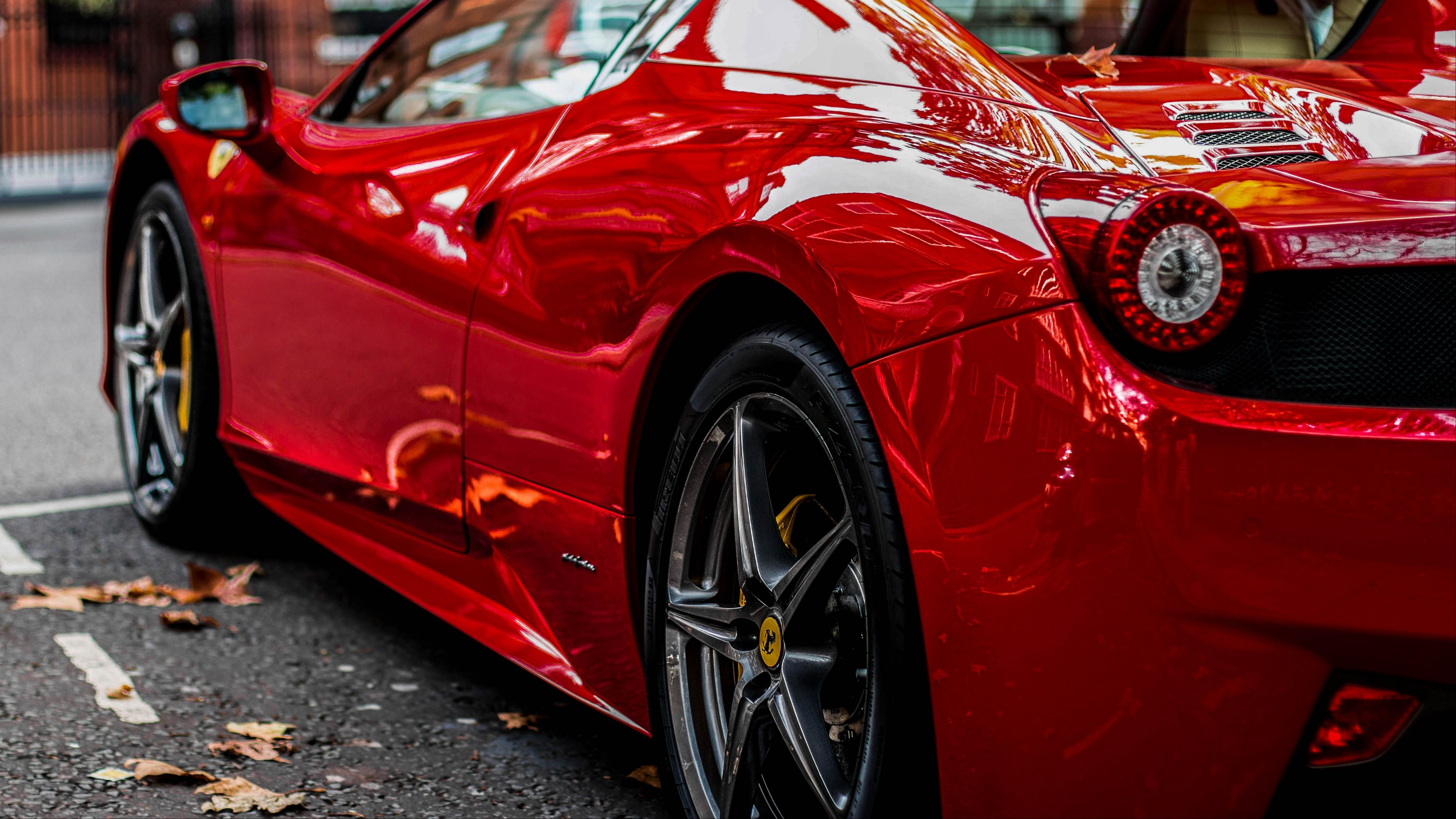 Sports Car Red Rear View 4k Sports Car Red Rear View Sports Car Car Wallpapers Car
