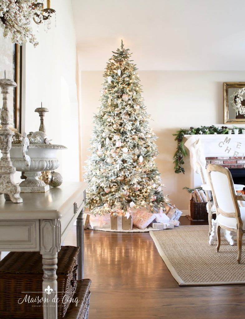 Romantic Living Room: French Inspired Romantic Christmas Living Room