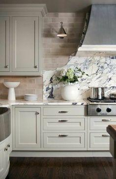 repeindre une cuisine en bois, repeindre meuble de cuisine en gris ...