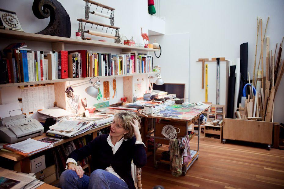 Workplace, Workspace, Work, Atelier, Office, Art, Kunst, Berlin, Artwork, Design, Painting,  Freunde von Freunden — Xenia Hausner — Künstlerin,  Atelier, Berlin-Prenzlauer Berg — http://www.freundevonfreunden.com/interviews/xenia-hausner/