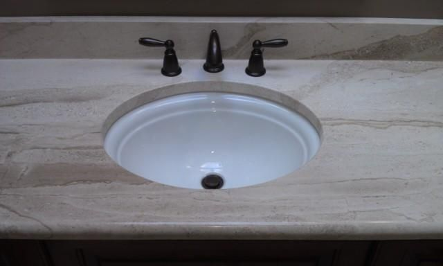 Replacing undermount bathroom sink granite countertop | Undermount