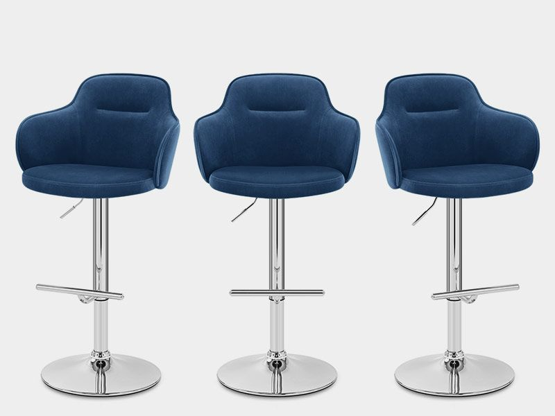 Vista Bar Stool Blue Velvet Bar Stools Hanging Chair From