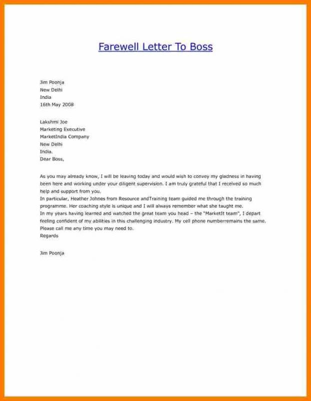 Thank You Letter After Resignation To Boss from i.pinimg.com