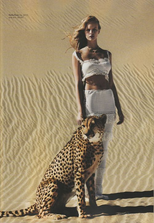 Under African Skies: Marloes Horst by Will Davidson for Harper's Bazaar Australia April 2012