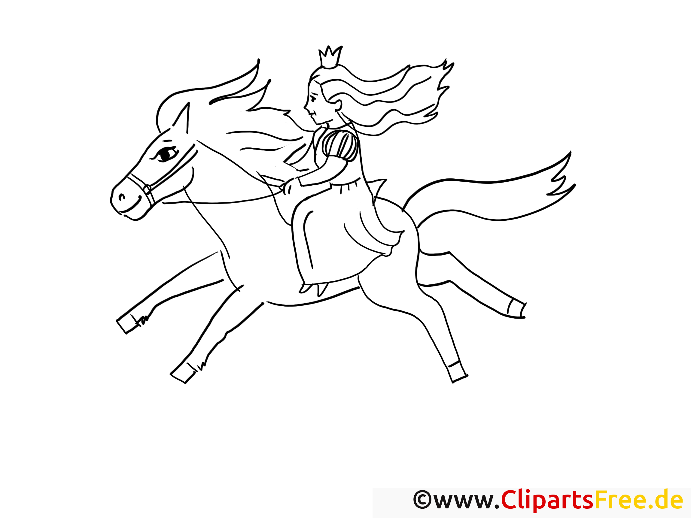 Ausmalbild Prinzessin Reitet Auf Dem Pferd Kostenlos Herunterladen Ausmalbilder Prinzessin Ausmalen Ausmalbild
