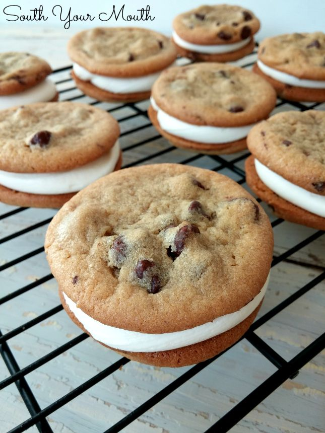 Cookie Sandwiches with No-Fail Marshmallow Cream Frosting #creamfrosting