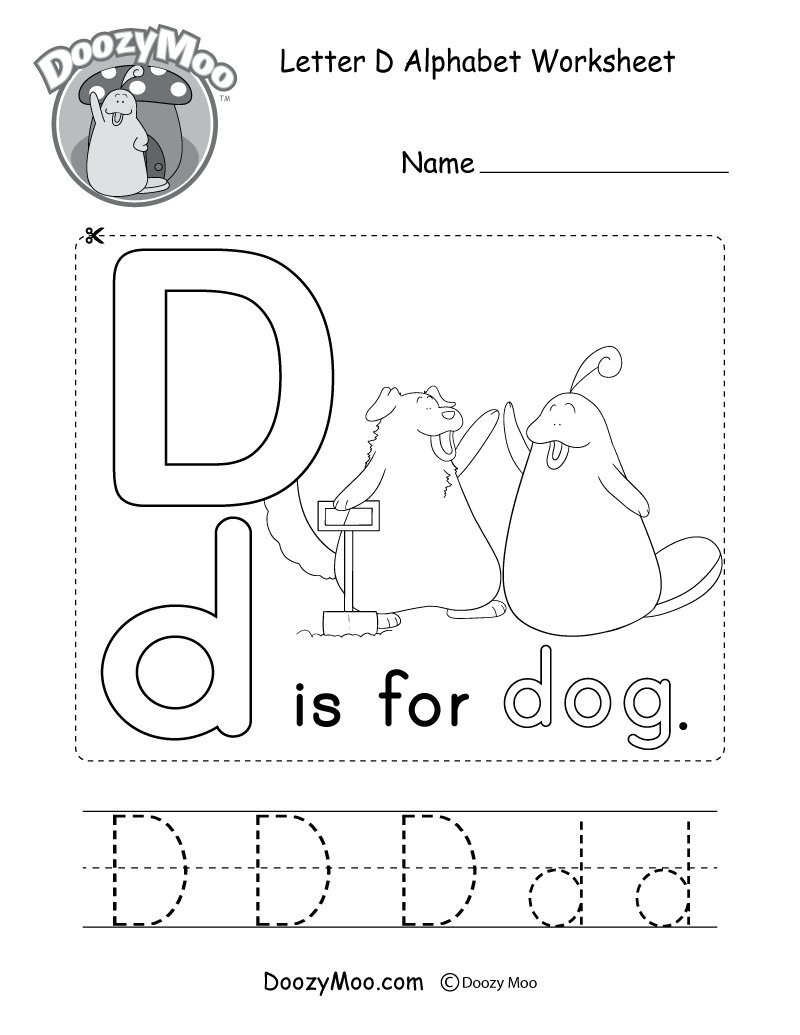 This Free Printable Gives Kids The Opportunity To Learn The Letter D Through Experienc Letter D Worksheet Kindergarten Worksheets Printable Alphabet Worksheets [ 1035 x 800 Pixel ]