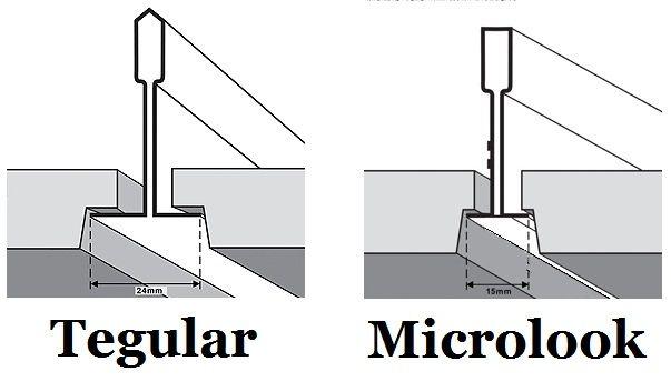 Image Showing Tegular Microlook Rebated Edge Detail To