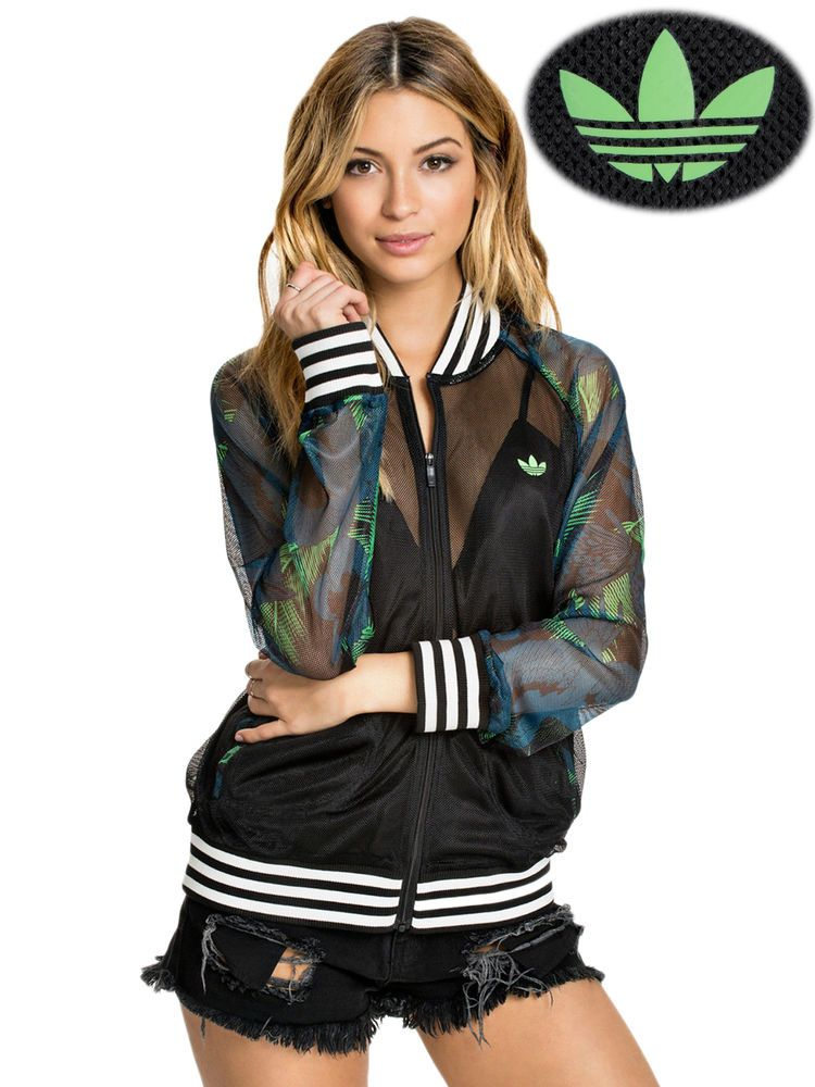 ADIDAS ORIGINALS HAWAII WOMEN S SUPERSTAR MESH TRACK JACKET