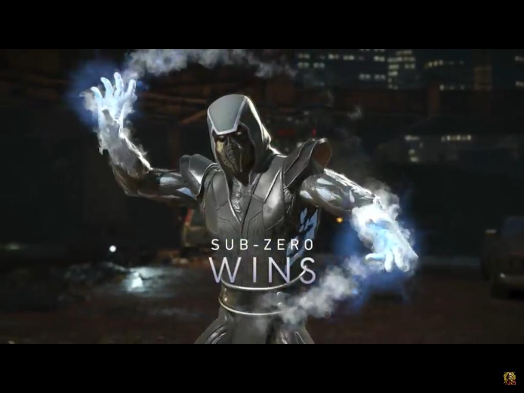 Sub Zero Bi Han Resurrected Shader Win Pose Injustice 2 Heroe