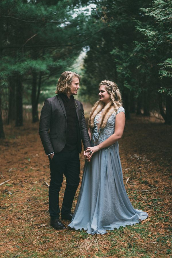 woodland wedding - photo by LV Imagery…
