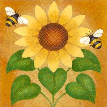 BUMBLEBEES AND SUNFLOWER, DECOUPAGE PRINTABLE | laminas country ...