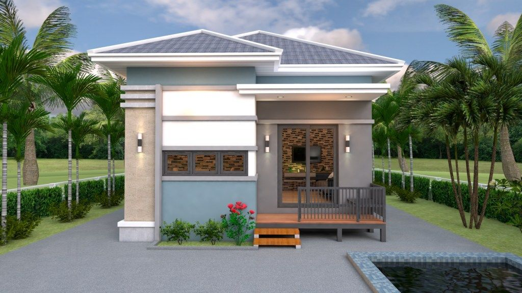 Small House Design Plans 7x7 With 2 Bedrooms House Plans Sam Home Design Plans House Design Small House Design