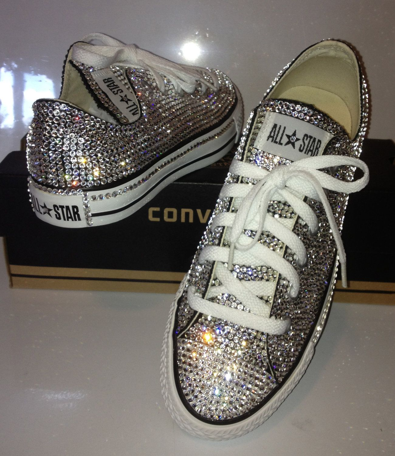 077e5b0bc5c2 Blinged Out Swarovski Crystal Converse All Star.  700.00