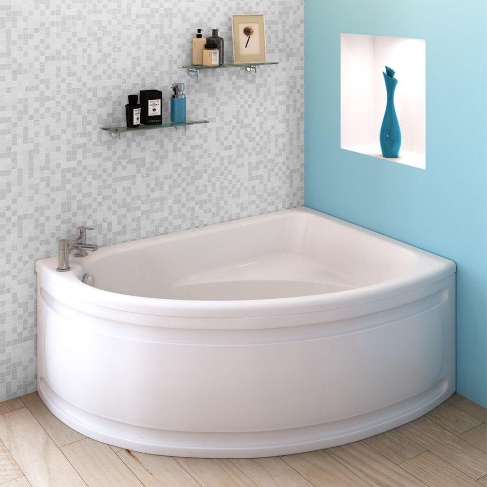 Orlando Corner Bath with Panel (Right Hand Option 1500 x 1040mm ...