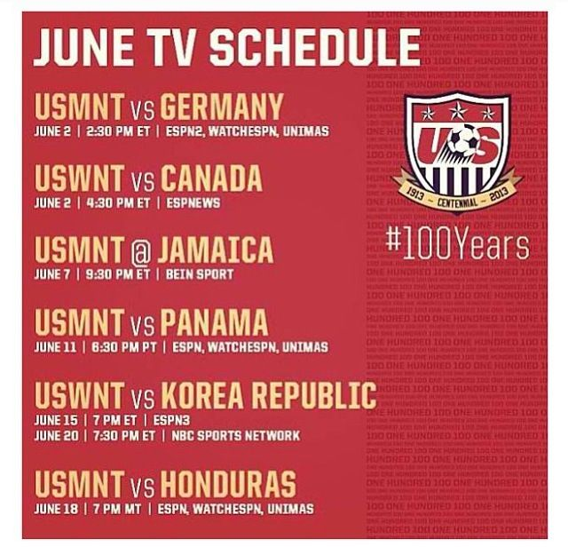 June Schedule For Uswnt Uswnt Tv Schedule Bein Sports