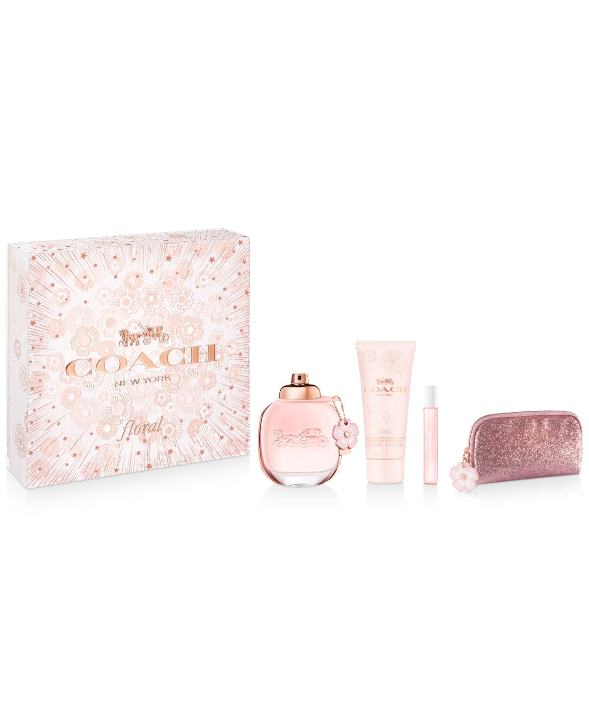 Coach Floral Eau De Parfum Is Inspired By Coach S Signature Leather Tea Roses Combining Fruity And Floral Notes Perfume Gift Sets Coach Floral Fragrance Gift