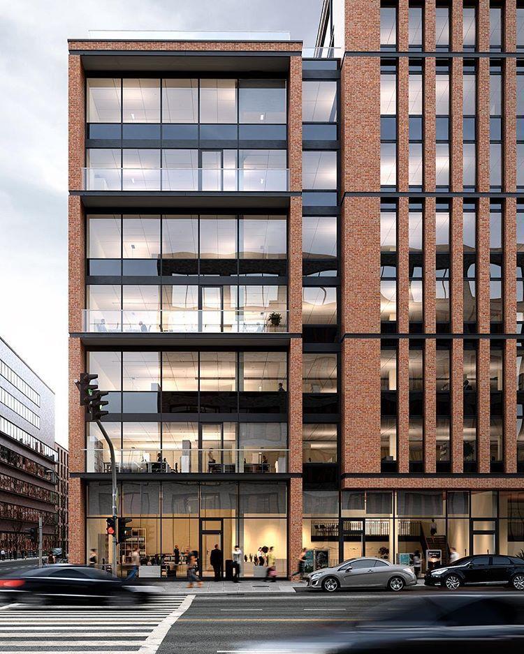 Headquarter For Gmp New Headquarter Extension For Gerb Gmp Architekten Hamburg Germany Facade Architecture Design Office Building Architecture Architecture
