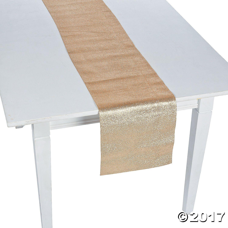 Gold Glitter Table Runner - OrientalTrading.com