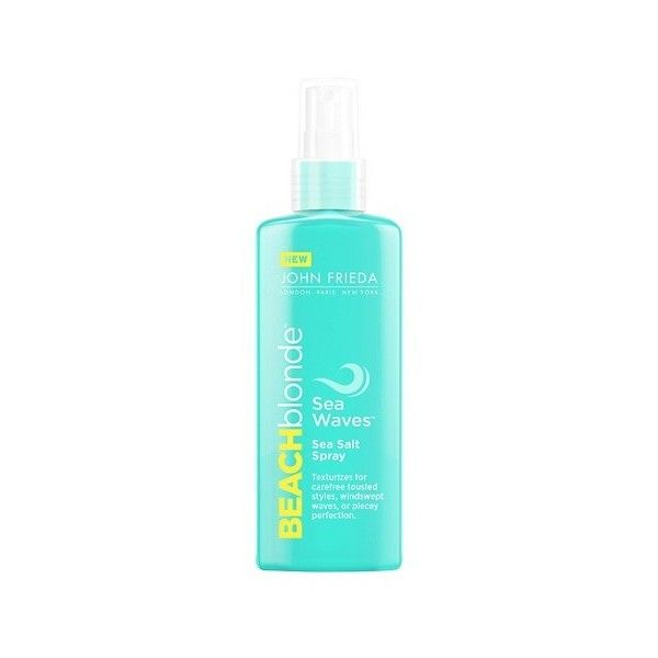John Frieda Beach Blonde Sea Waves Sea Salt Spray (69 GTQ) ❤ liked on Polyvore featuring beauty products, haircare and styling products