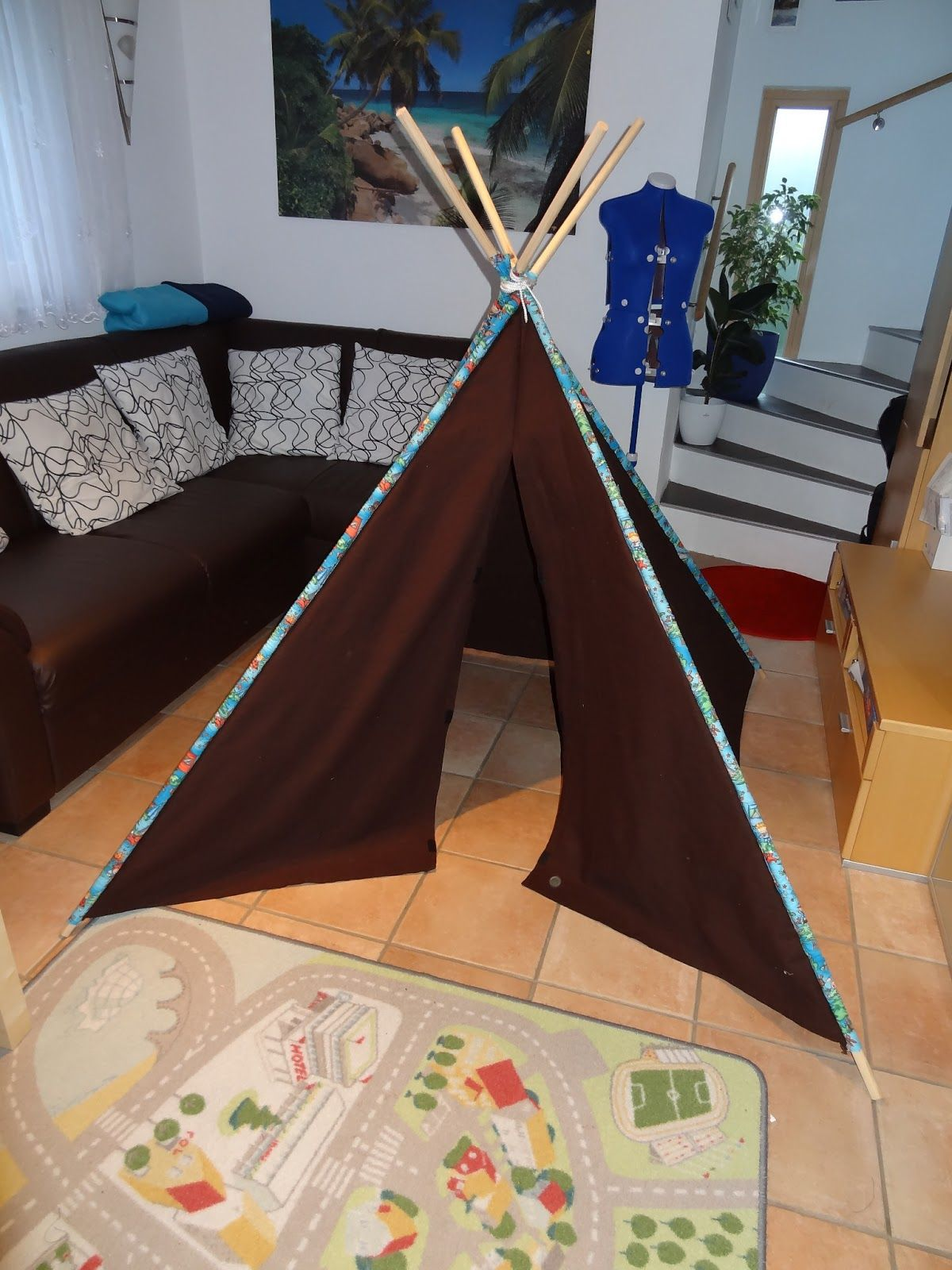 alefe 39 s blog tipi indianerzelt teepee zelt wigwam eine anleitung m dchen. Black Bedroom Furniture Sets. Home Design Ideas