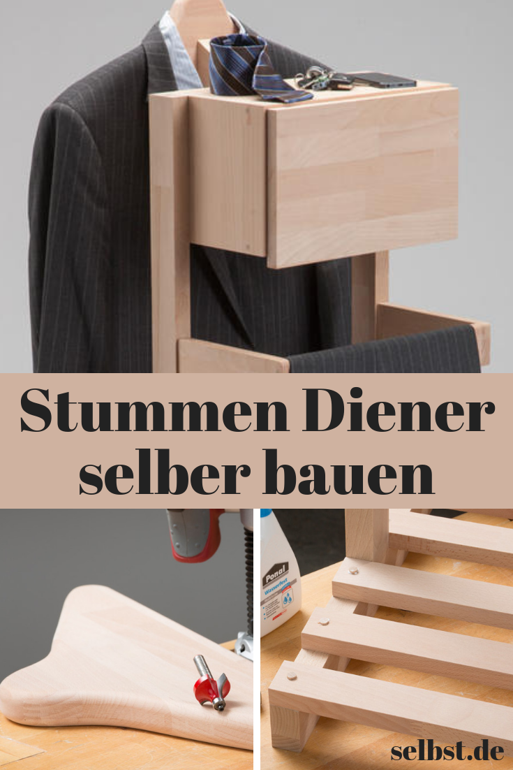 stummer diener holz schlafzimmerm bel selber bauen. Black Bedroom Furniture Sets. Home Design Ideas