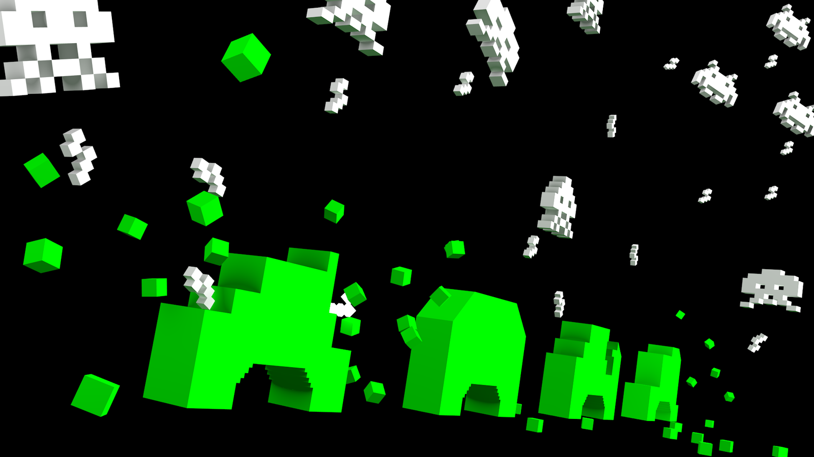 Space Invaders Attack By Tangooscarmik3 D3dnt59 Png 1600 900 Space Invaders Wallpaper Free Wallpaper
