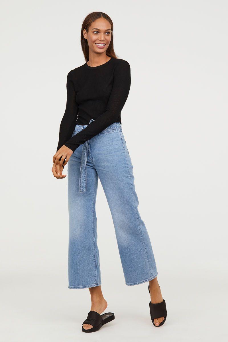 bf46ba6094a9 Wide High Waist Jeans