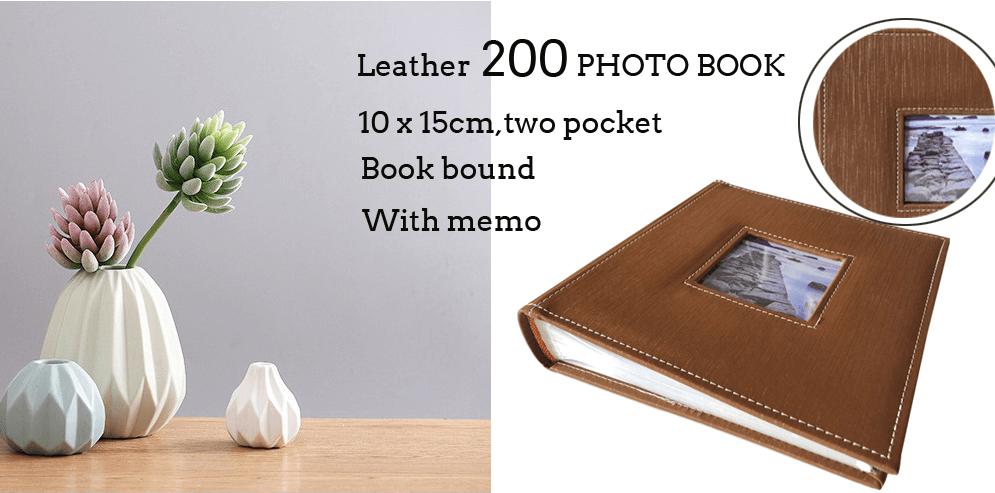 Photo Album Cover With Stitching 200 Photos 15x21cm Photo Album Covers Photo Album Book Photo Album