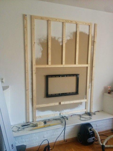 Afbeeldingsresultaat voor wandmeubel tv om kabels te verbergen | Tv ...