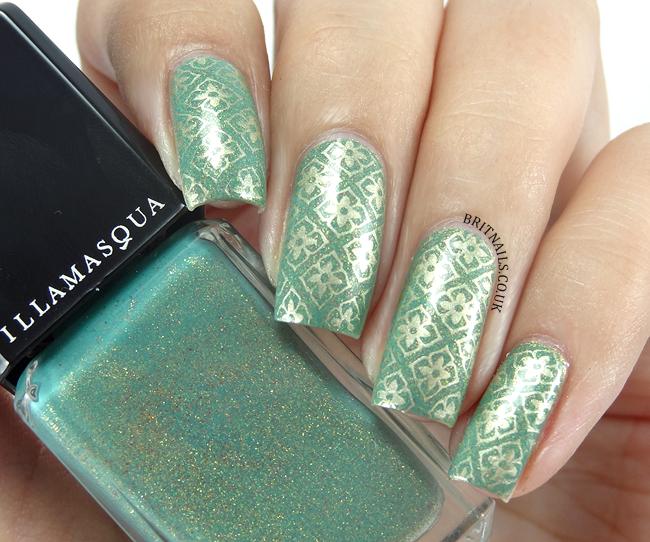 Floral Stamping with Illamasqua Melange | Brit Nails - Nail Art ...