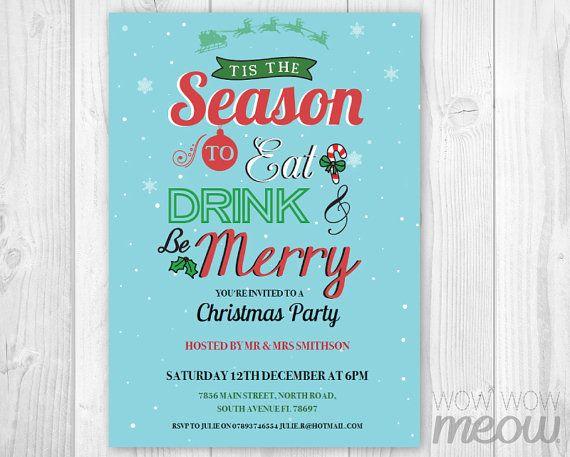 Christmas Party Invitation Xmas Holiday Season by wowwowmeow