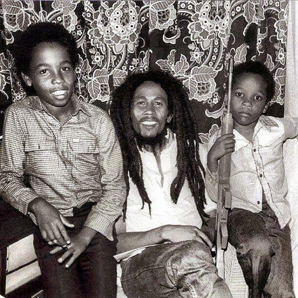 Ziggy, Bob and Stephen Marley