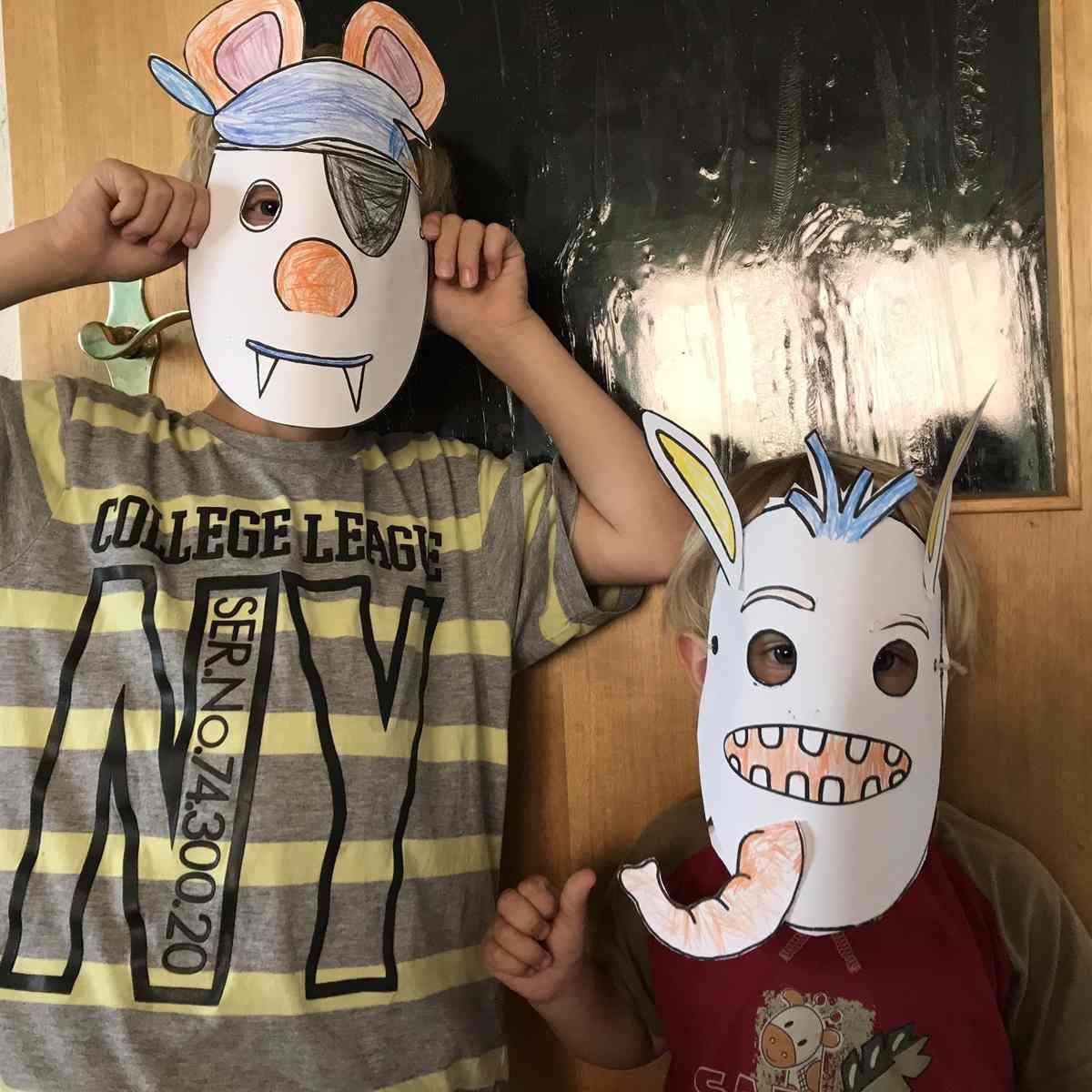 Anzeige inkl. Freebie - Masken zum Kindergeburtstag basteln - Mama Maus Blog