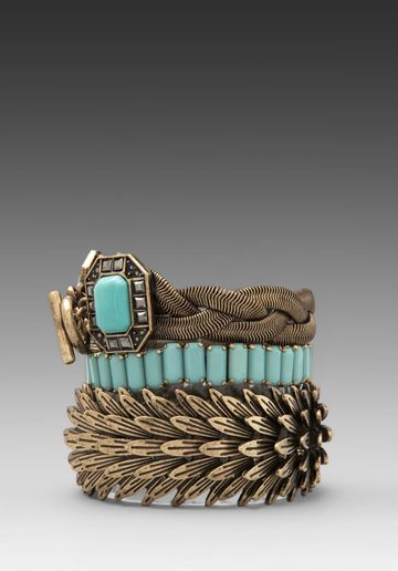 SAMANTHA WILLS Beautiful Nightmare Bracelet Set in Turquoise - Bracelets & Cuffs