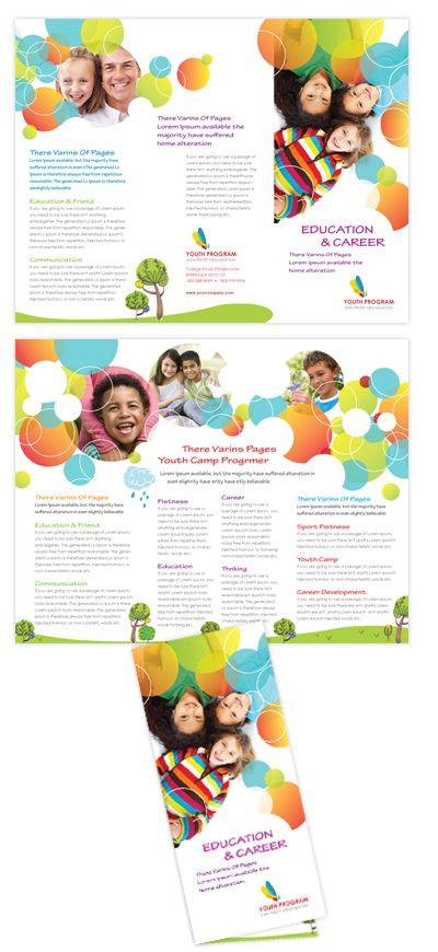 youth program tri fold brochure ideas pinte. Black Bedroom Furniture Sets. Home Design Ideas