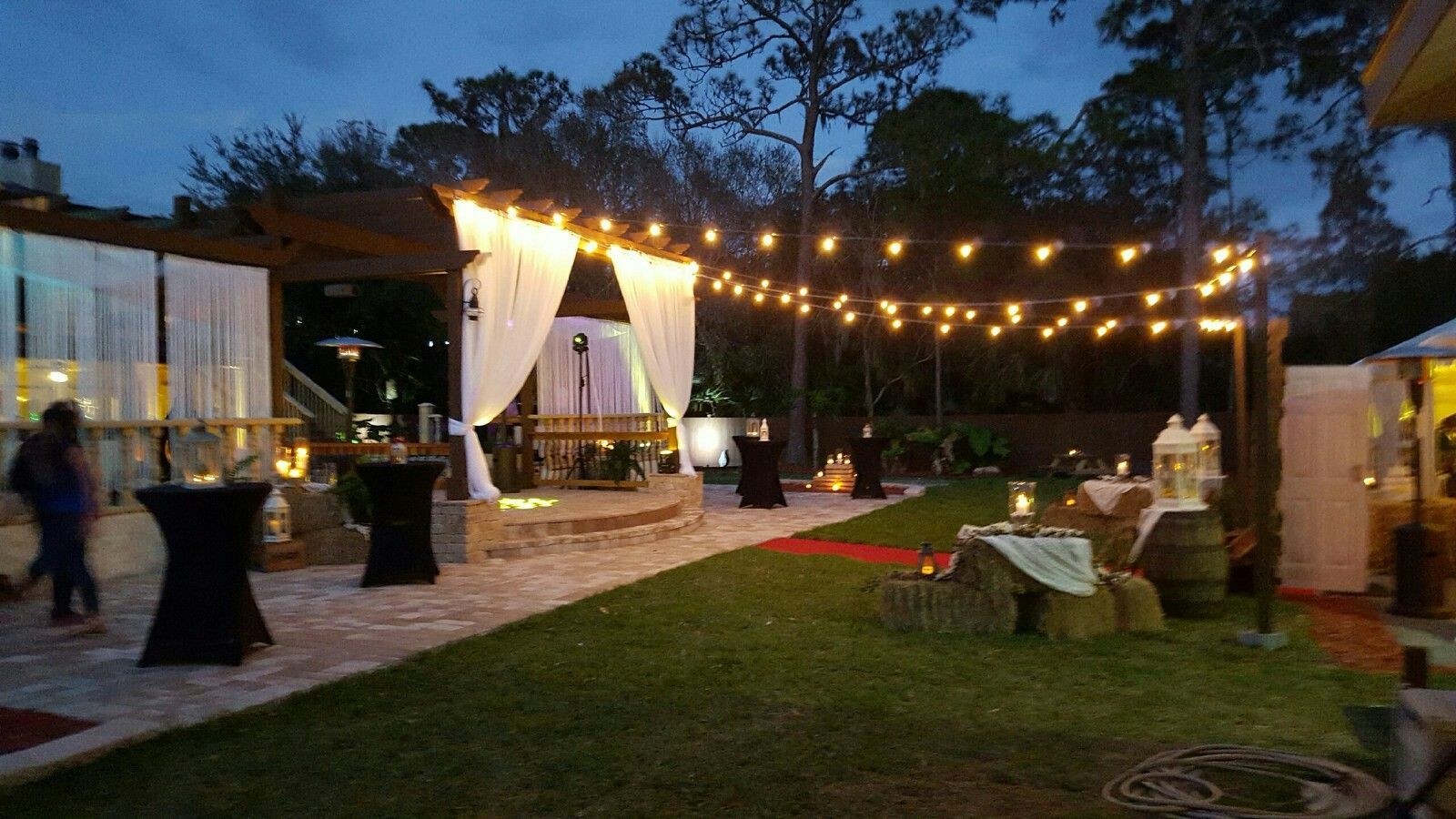wedding reception entrance at oak manor cocoa fl designed by an